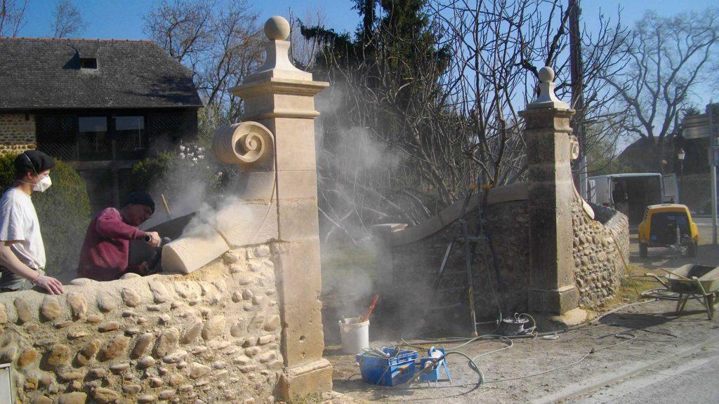 restauration d'un portail - Christian Baur