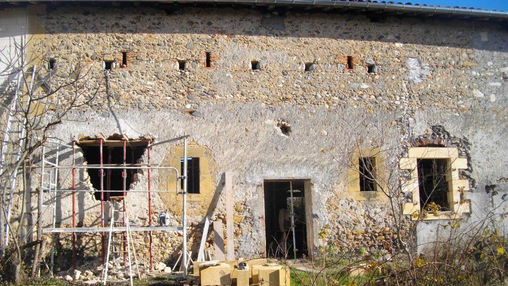 Création d'ouvertures en pierre. Christian Baur