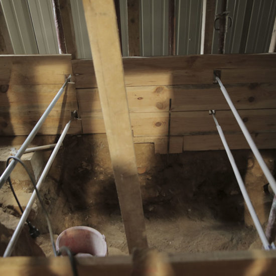 Reprise en sous-œuvre de la partie sous les latrines